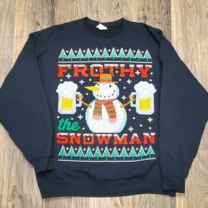 Frosty (frothy) the snowman ugly Christmas sweater